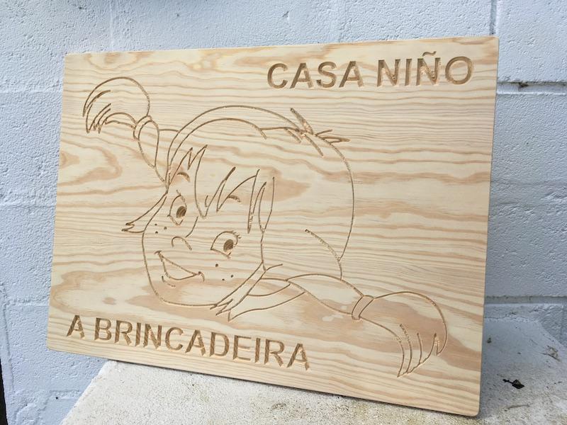 Cartel Casa Niño A Brincadeira 1