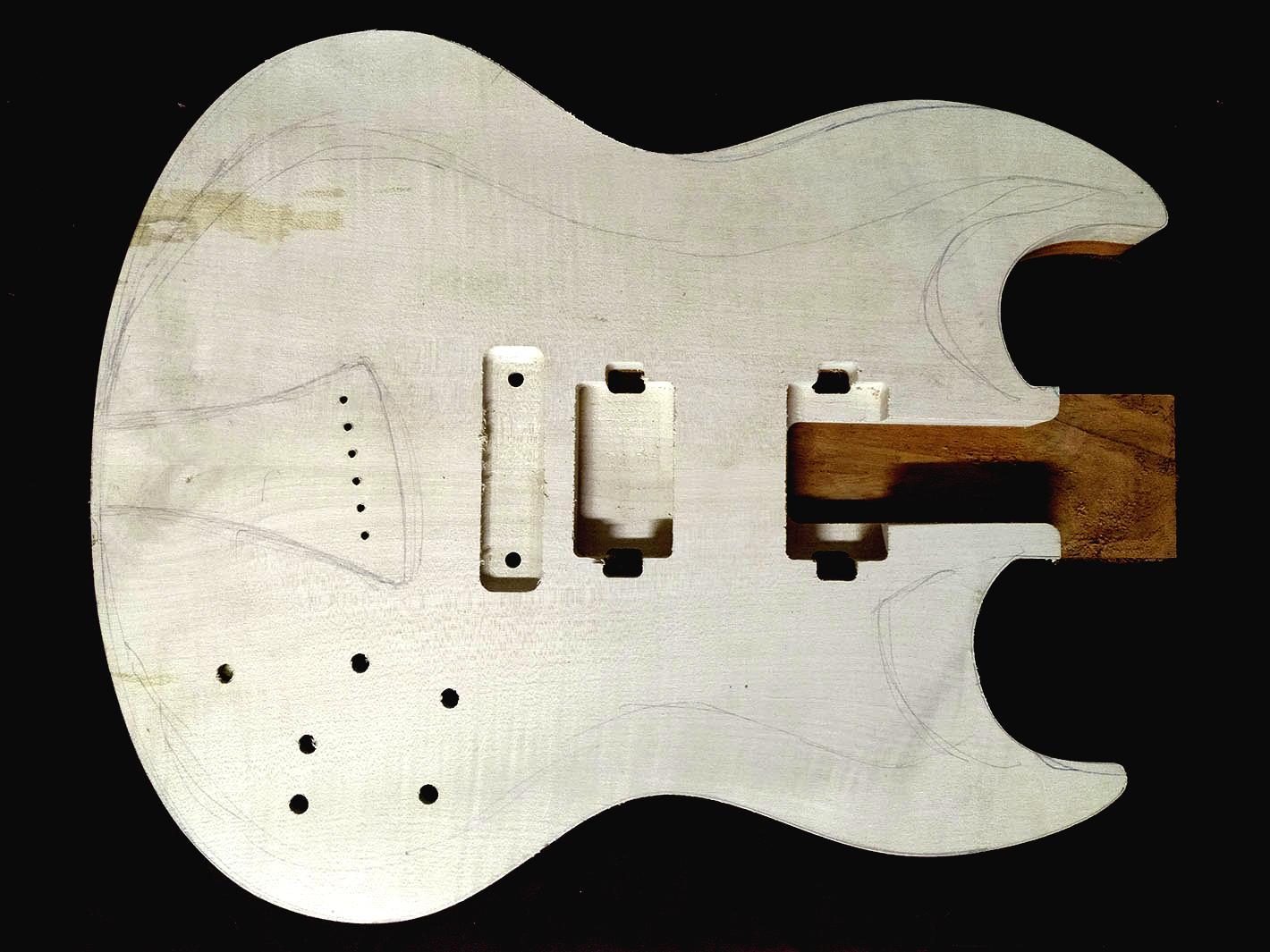 Guitarra Sabrafén caixeado boost
